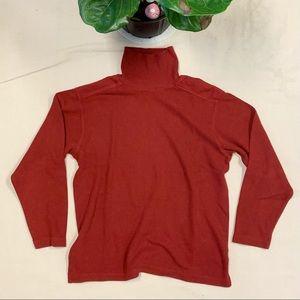Vintage 90s Marlboro Red Turtleneck Sweater